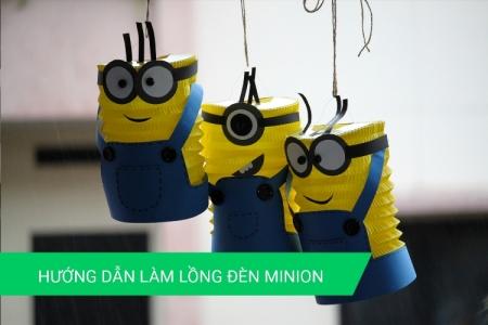 Hướng dẫn làm lồng đèn giấy hình Minion