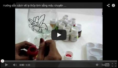 Video vẽ trên kính bằng màu chuyên nghiệp